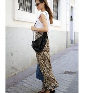 Zara Wide Leg Leopard Pants